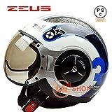 バイクヘルメット ZEUS 218C ヘルメット ジェット パイロット PSC付き【商品4/Mサイズ】
