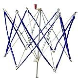ふごも かせくり器 糸巻き機 玉巻き?折りたたみ式 編物道具 ステンレス製 高さ20インチ(50CM)、広げた時周囲の長さ58インチ(150CM)