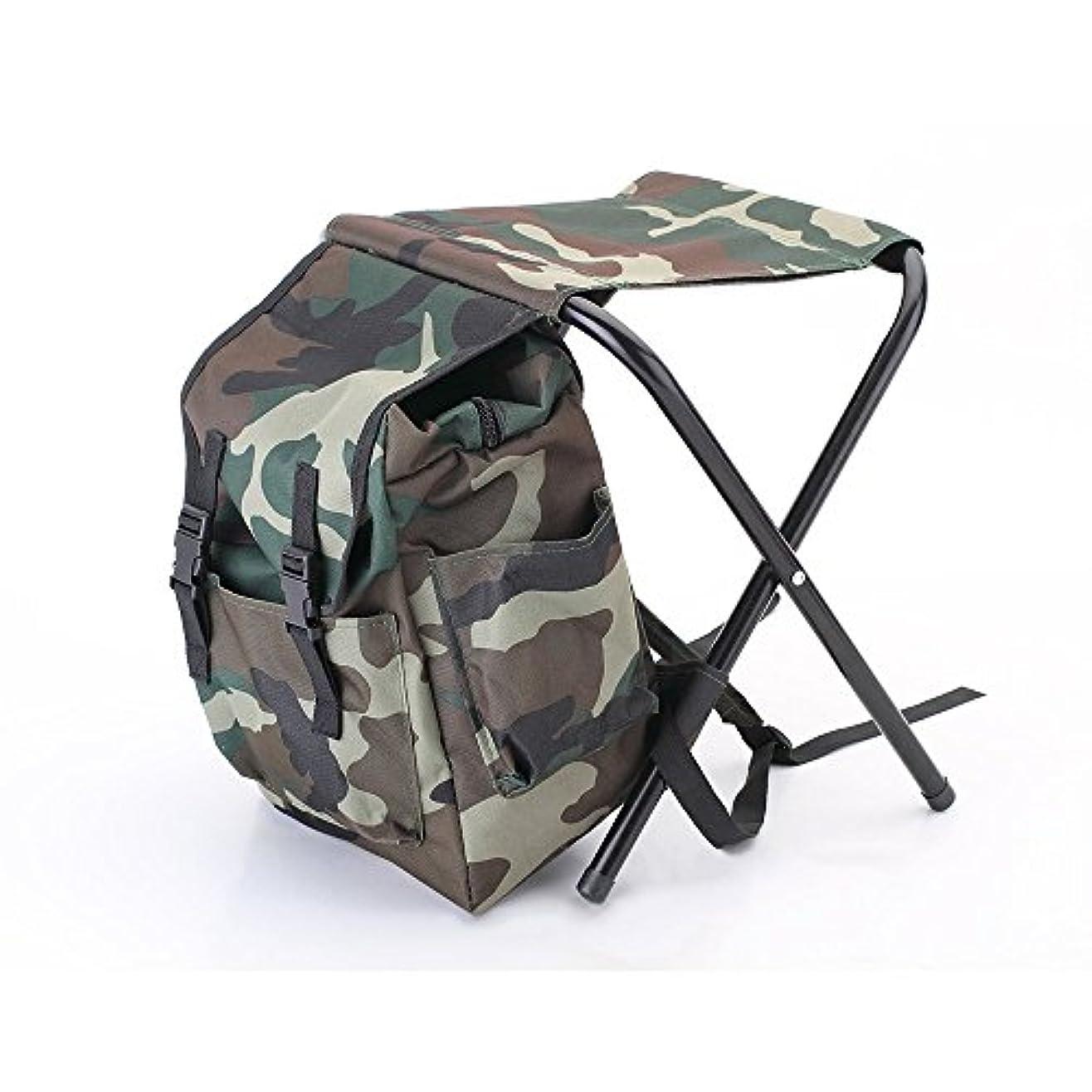 オペレーター予測する任意2in1 折りたたみ 椅子 バッグ コンパクト 耐荷重80KG リュック椅子 登山 魚釣り キャンプ 旅行用 椅子 カバン機能付き