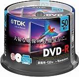TDK 録画用DVD-R デジタル放送録画対応(CPRM) 1-16倍速 インクジェットプリンタ対応(ホワイト・ワイド) 50枚スピンドル GDR-120DPWC50PF