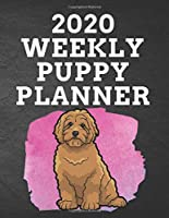 """2020 WEEKLY PUPPY PLANNER: 8.5""""x 11"""" 115 Page Goldendoodle Dog Lover Gift with Pink on Black Back Academic Year At A Glance Planner Calendar With To-Do List and Organizer And Vertical Dated Pages Great for Goldendoodle Fans (Goldendoodle 2020 Planners)"""