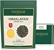 VAHDAM, Green Tea Leaves from Himalayas (50 Cups), 100% Natural Tea, Powerful Anti-OXIDANTS, Brew Hot Tea, Ice