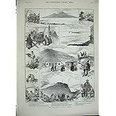 1889 ケーブル鉄道のヴェスヴィオナポリの火山噴火口