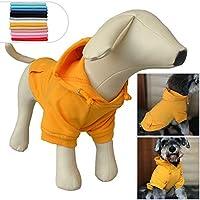 ファッションペットコートコットン基本的な犬のパーカー、犬の服小さな子犬のための子犬のベストの冬のコートコートジャケット、選択のための11のサイズと11の色 Orange S