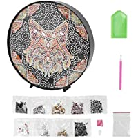 SOLUSTRE 5D Full Drill Diamond Painting Kit Wolf Head DIY Embroidery Rhinestone Paint Arts Craft Decor for Adults Beginner