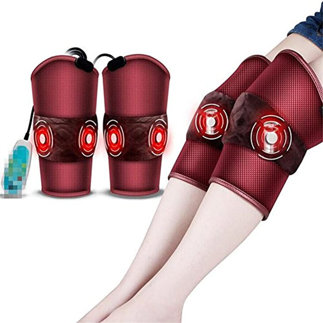 技術操る合計ELEGENCE-Z電気暖房Kneepadウォームセラピー遠赤外線膝物理療法フォトンマッサージャー/磁気/振動膝マッサージャー