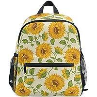 MASSIKOA Sunflowers Lightweight Travel School Backpack for Boys Girls Kids