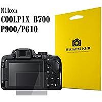 【BACKPACKER】 カメラ液晶保護ガラス 液晶プロテクター 0.33mm強化ガラス使用 9H硬度 高鮮明 Nikon COOLPIX B700 / P900 / P610用