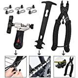 WOTOW Bicycle Chain Repair Tool Kit, Cycling Bike Master Link Pliers Remover & Chain Breaker Splitter Cutter & Chain Wear Indicator Checker & Reusable Missing Connector for 6/7/8/9/10 Speed Chain