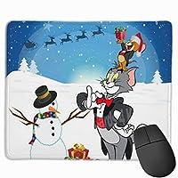 トムとジェリークリスマス マウスパッド ゲーミング オフィス最適 高級感 おしゃれ耐久性が良 付着力が強い30x25x0.3cm