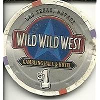 $ 1 Wild Wild Westラスベガスカジノチップ