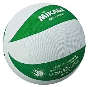 ミカサソフトバレーボールホワイトグリーン ファミリー・トリムの部試合球 MS-M78-WG