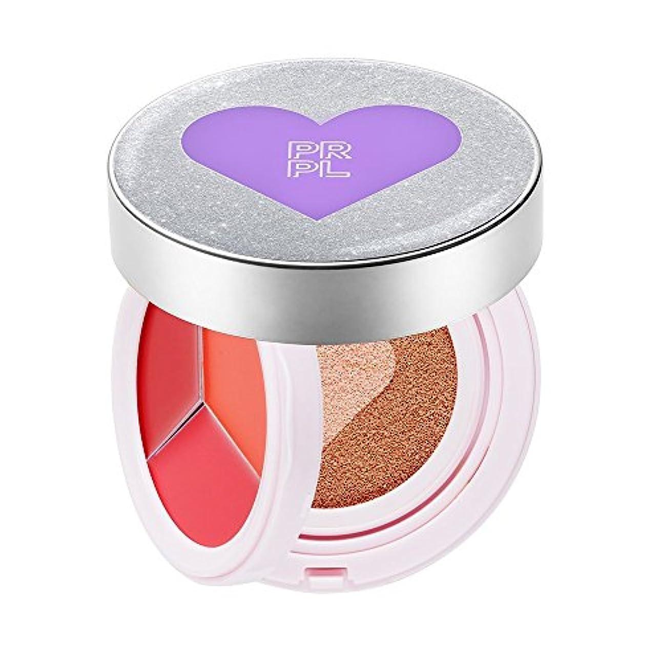 悪性腫瘍地元なのでPRPL Kiss&Heart Cushion Silver Edition(Lip Glow Pink/Lip Glow Orange/Lip Glow Red) Triple Heart Cushion Compact...