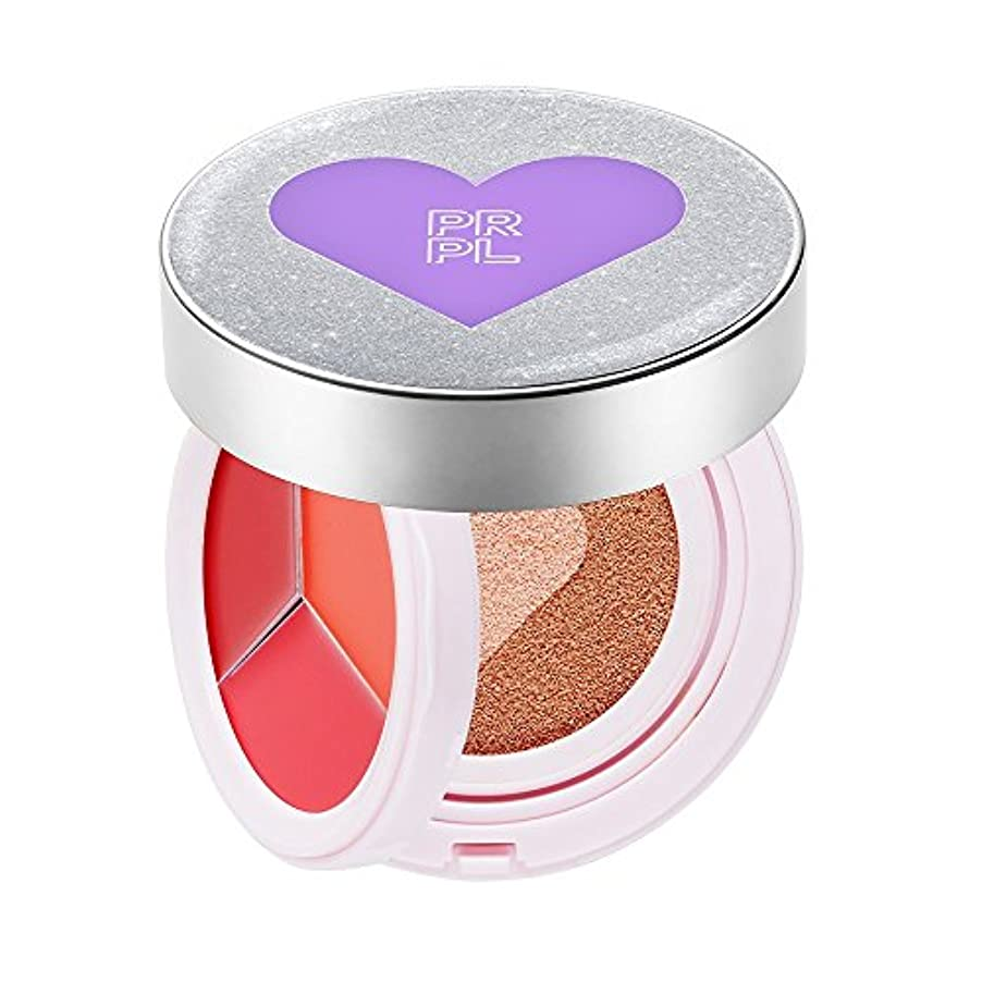 一緒にロータリー繁殖PRPL Kiss&Heart Cushion Silver Edition(Lip Glow Pink/Lip Glow Orange/Lip Glow Red) Triple Heart Cushion Compact...
