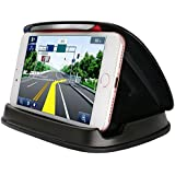 Cell Phone Holder for Car, Car Phone Mounts for iPhone 7 Plus, Dashboard GPS Holder Mounting in Vehicle for Samsung Galaxy S8 Note 8,iPhone X, 7 and other 3-6.8 Inch Universal Smartphones GPS - Black