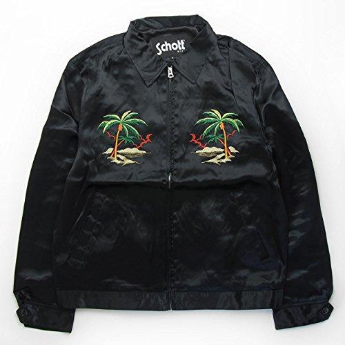 (ショット) Schott ショット スーベニア ジャケット 刺繍 スカジャン レーヨン ブラック 3172007-09-M