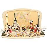 人形工房天祥 雛人形 こひな 十人飾り 木目込み「こひな のしめ桜シリーズ 三人官女?五人囃子付き」