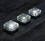 Jimeng LEDソーラーライト キューブタイプ 電源不要のソーラー式 人気のキューブ型 LED ガーデンライト 防水 ソーラーキューブ ホワイト