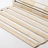 桐 すのこベッド シングル 桐材100%使用 ロール式 スノコベッド (A758-S1)