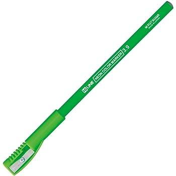 クツワ 鉛筆の蛍光マーカー RF017GR グリーン 削り付キャップ付