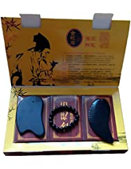 3pcs Bian Stone massage tools 3点セット天然石 マッサージ棒 足つぼ?手のひら かっさ あんま棒 泗濱ベン石(泗濱浮石)