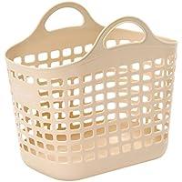 サンコープラスチック 日本製 ランドリーバスケット ビート バスケット No.1 ベージュ