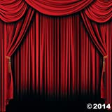 Hollywood Movie Magic Circus Party Decoration Photo Booth Red Curtain Backdrop by Other