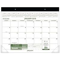 """at-a-glance Monthlyデスクパッドカレンダー、1月2019–12月2019、22"""" x 17インチ、2つカラー(gg250000)"""