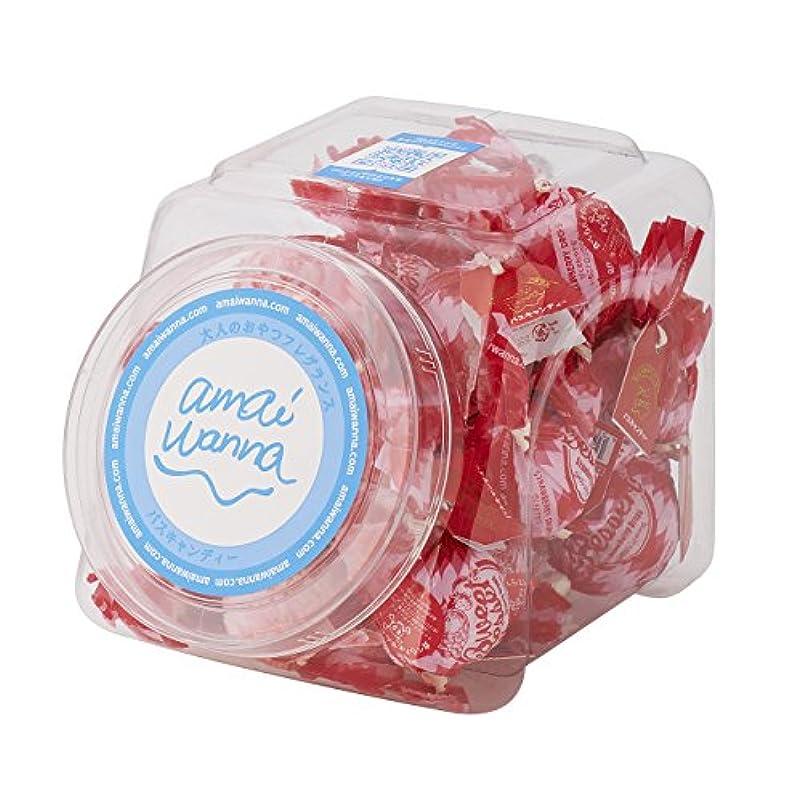 論理倉庫民主党アマイワナ バスキャンディーポットセット いちごドロップ 35g×24コ(発泡タイプ入浴料 甘くさわやかないちごドロップの香り)