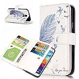 UNEXTATI Galaxy S5 ケース 高品質 PUレザー 手帳型ケース 保護カバー カード収納 液晶保護 防塵 Samsung GalaxyS5 用 Case Cover (P5 ホワイト)