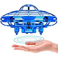 Powerbeast ドローン ラジコン ミニドローン ジェスチャー制御 自動回避障害機能 2段スビート調整 ドローン 小型 高度維持 LED 日本語取扱書付き クリスマス お誕生日 子供 プレゼント 男の子 女の子 4-12歳 ヘリコプター ドローン玩具 (青)