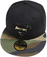 New Era Superman Black Woodland Camo Camouflage Marvel DC Cap 59fifty 5950 Fitted Basecap Kappe Men Special Limited Edition