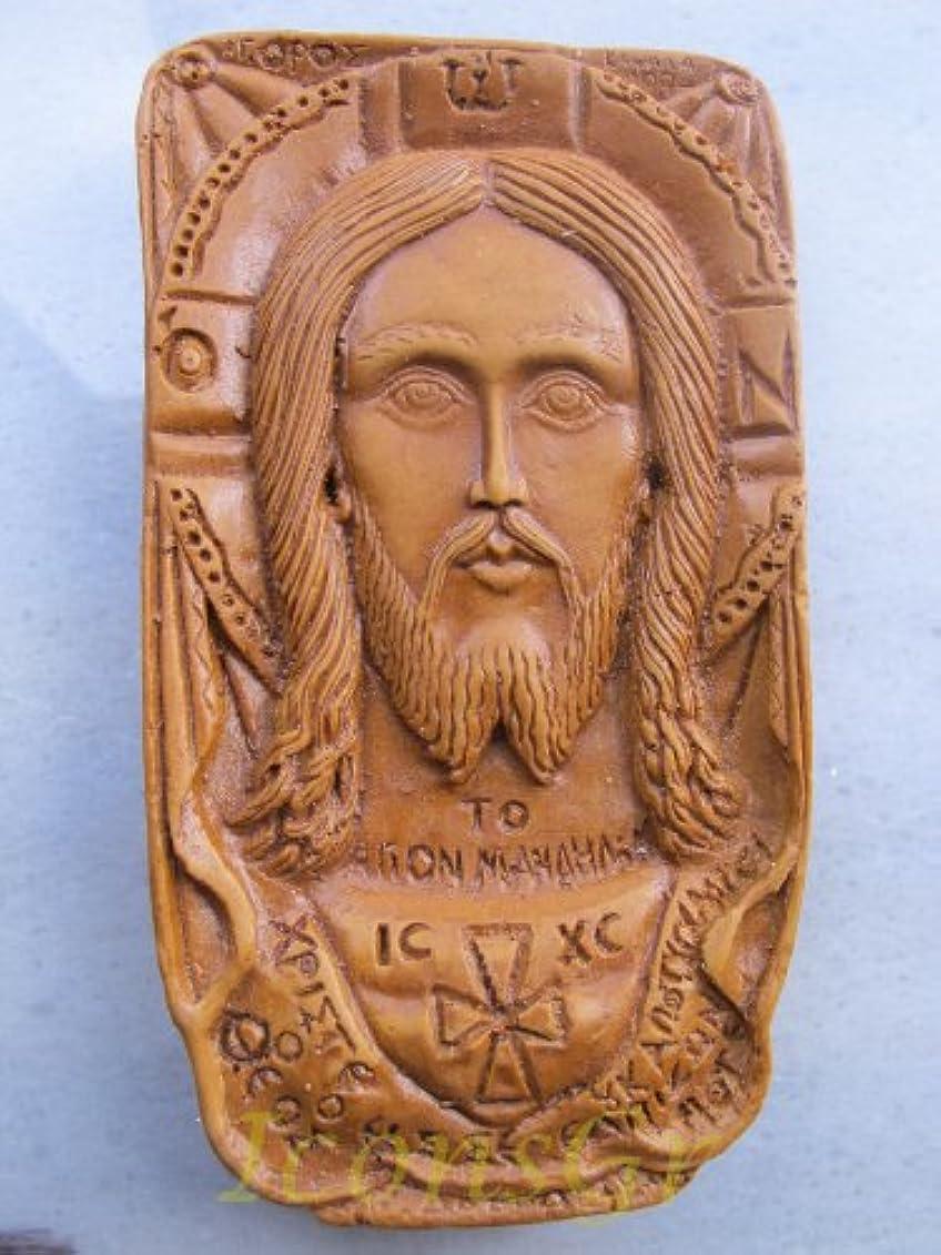写真撮影むき出し分類するHandmade Carved Aromaticワックスから祝福アイコンアトスのマンディリオン125