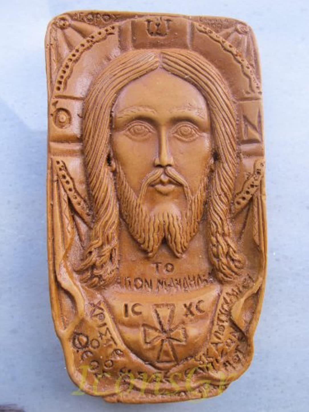 関与する把握橋脚Handmade Carved Aromaticワックスから祝福アイコンアトスのマンディリオン125