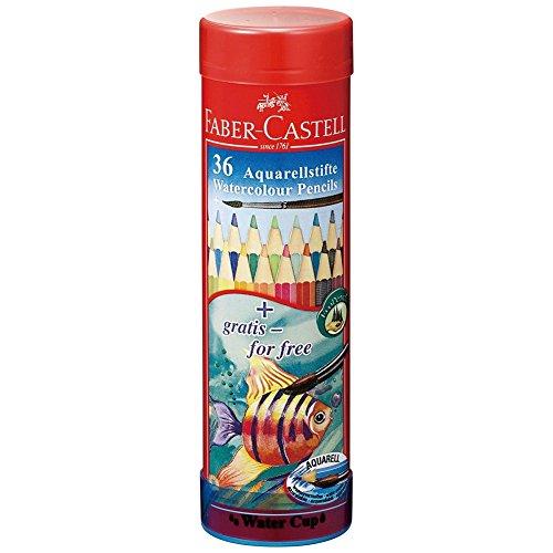 シヤチハタ ファーバーカステル 水彩色鉛筆 丸缶 36色セット TFC-115936 1セット 36色