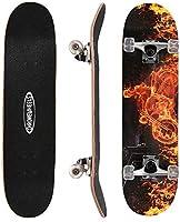 ChromeWheels 31 inch Skateboard Complete Longboard Double Kick Skate Board Cruiser 8 Layer Maple Deck for Extreme Sports...