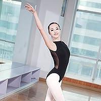 Dagly(TM)レディースブラックレースタートルネックノースリーブレオタード大人の女の子バレエのレオタード