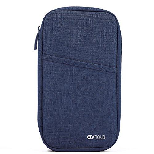 ELVNOVA パスポートケース 航空券 チケットケース マル...