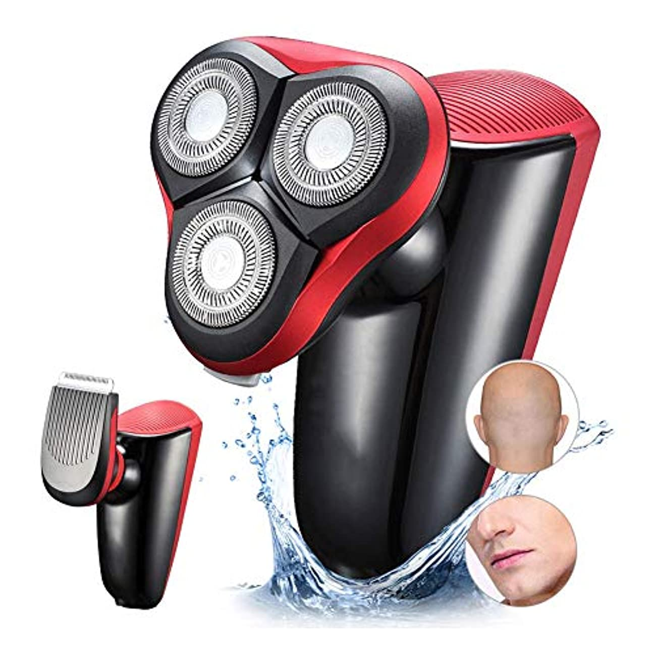 説明シンポジウム国内の男性のヒゲトリマーバリカンかみそりの刃シェーバー3洗えるシェービングマシンのUSB充電式のため簡単にヘッドシェーバー電気シェーバーかみそり