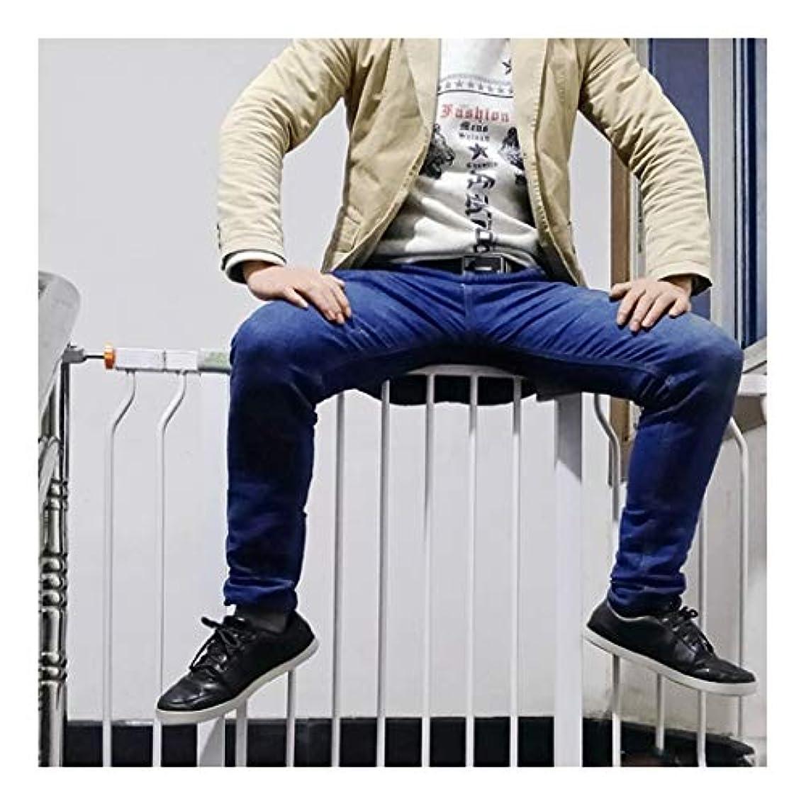同種のラボのスコアベビーゲート 暖炉階段ガードレール用オートクローズデュアルロックエクストラワイド赤ちゃんペットの安全ゲイツとの双方向スイッチと圧力マウントフェンス (Color : High78 width, Size : 83-90cm)