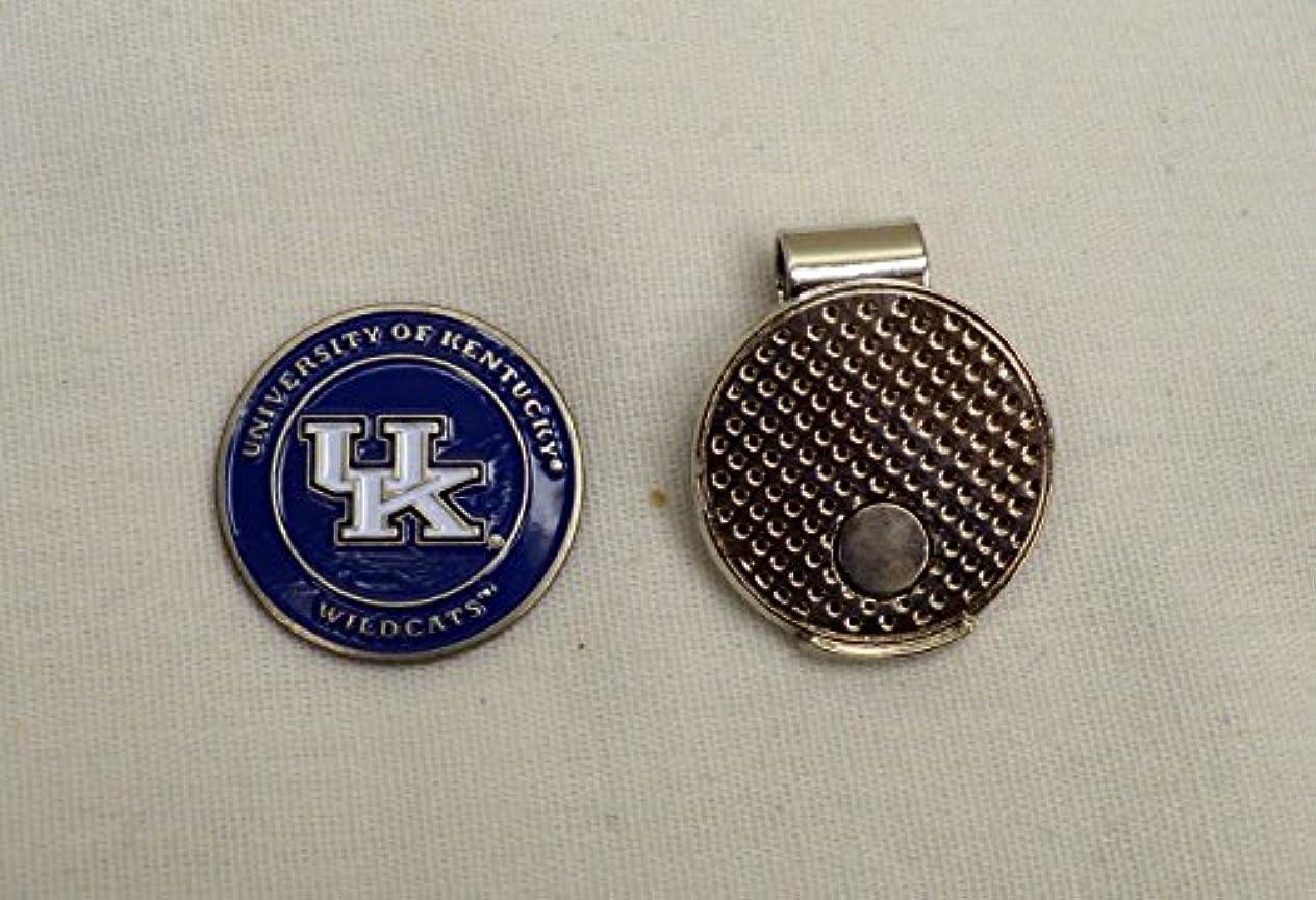 混乱した温帯連結するNCAA大学ケンタッキー州のゴルフボールマーカーwith磁気帽子クリップ