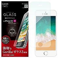 エレコム iPhone SE ガラスフィルム ゴリラガラス [ iPhone5S / iPhone5 / iPhone5C 対応] PM-A18SFLGGGO