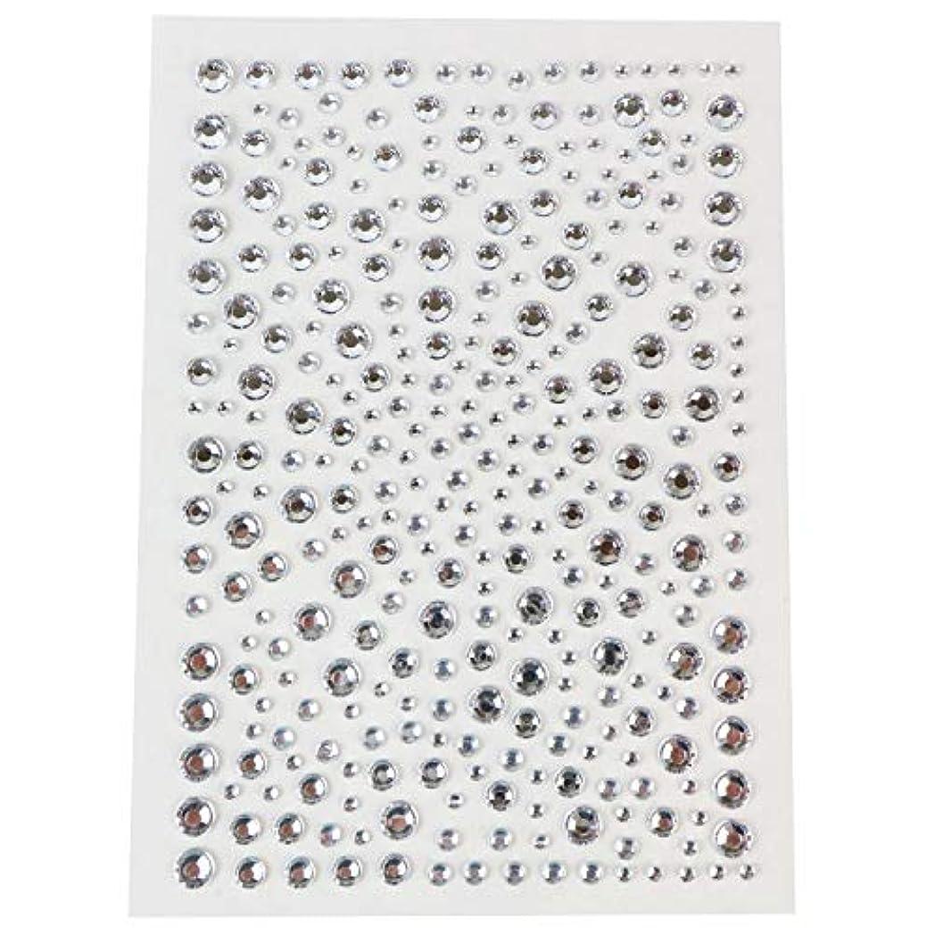 ディレクターゼリープレミアム044 ラインストーンシール(デコシール) ジュエリータイプ 2~5ミリ【シルバー】