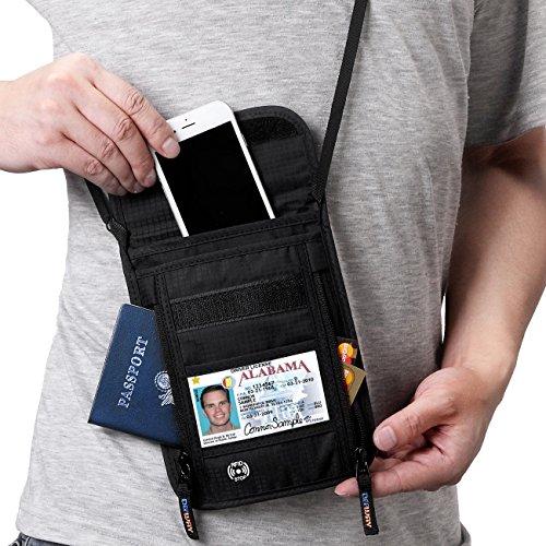 【スキミング防止素材】 Defway パスポートケース 首下...