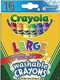 [クレヨラ]Crayola Large Washable Crayons Assorted Colors 16 Count 52-3281 [並行輸入品]