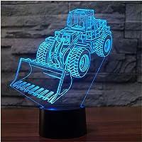 Wxmca 7色ランプ3Dは子供の接触Usbのテーブルの赤ん坊の睡眠のための夜間照明を導きました