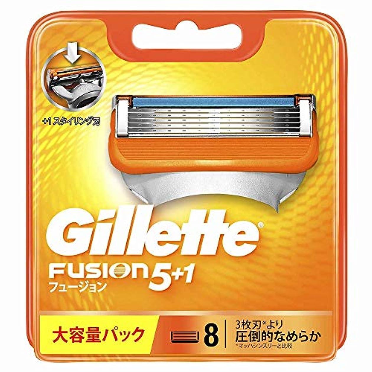 堤防堂々たる川ジレット 髭剃り フュージョン5+1 替刃8個入