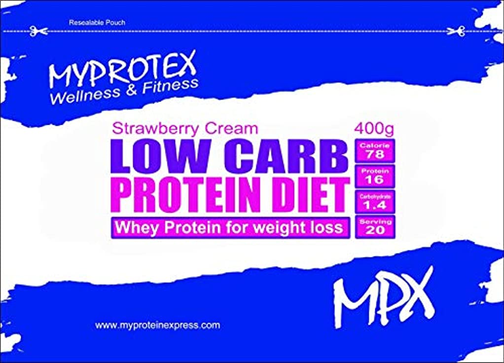 同時所有権溶融MPX ローカーボ プロテインダイエット?Low Carb Protein Diet?マイプロテクス ダイエットシェイク (ストロベリークリーム, 400g)
