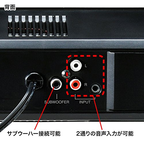 サンワサプライ『液晶テレビ・パソコン用サウンドバースピーカー(MM-SPSBA2N)』