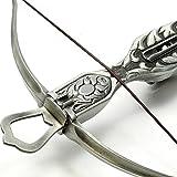スペイン製 中世 古式 クロスボウ 弓矢 レプリカ シルバー 合金製 復刻 ボウガン 38cm sko-822